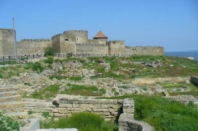 Twierdza mołdawska Białogród, od 1484 roku turecki Akkerman położona nad rozlanym ujściem rzeki Dniestr.