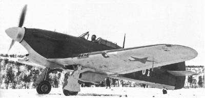 Hawker Hurricane (n/s Z5252) dowódcy lotnictwa Floty Północnej. Samolot ten był uroczyście przekazany generałowi A.A. Kuzniecowowi 25 września 1941 roku.