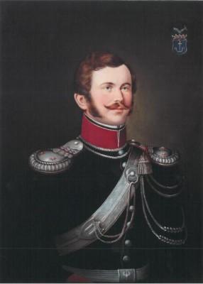 Portret Leona barona Konopki herbu Nowina, oficera Jazdy Poznańskiej 1831 Roku. Zb. MWP