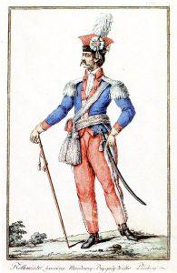 K.Cz. rotmistrz 1.wielkopolskiej brygady kawalerii w ubiorze służbowym (1790)