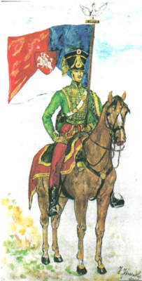 Huzar plutonu por. Kopcia na Litwie, 1831 r.