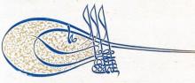 il.8. Tugra Sulejmana Wspaniałego  z listu przymiernego