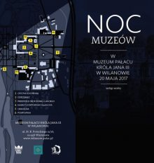 mapka - noc muzeów Wilanów 2017